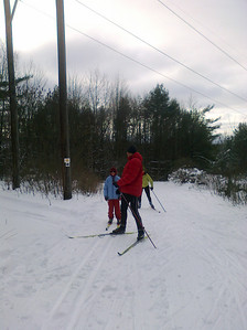 Skiing at Catamount during Christmas 2010. (Mike's phone picture)