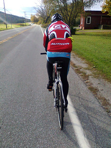 With Pavel on a Sunday afternoon ride. (cell phone picture)