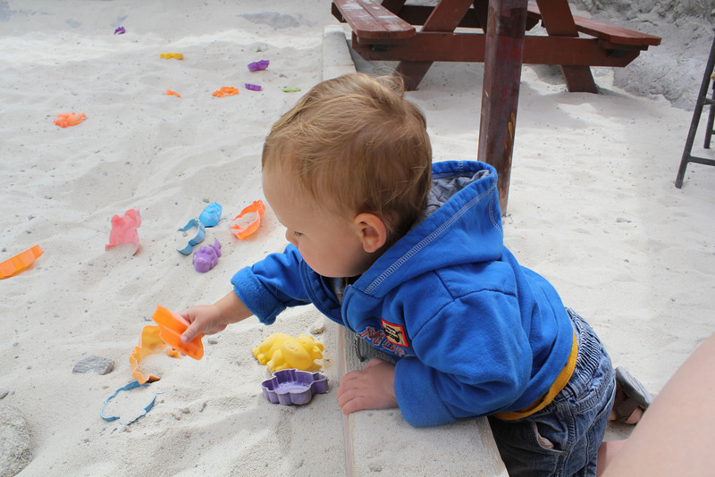 Digging in the sand pit!