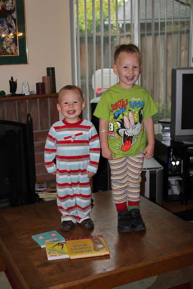 Happy Dr. Suess's Birthday - the kids dressed up in Silly clothes!