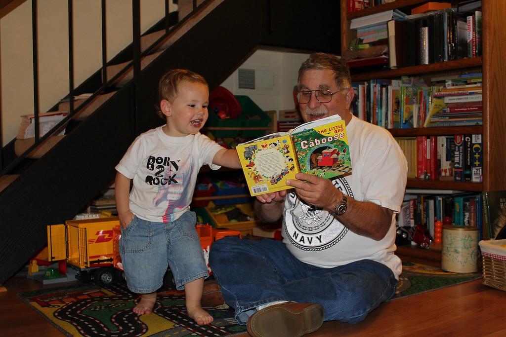 Reading to Grandpa David