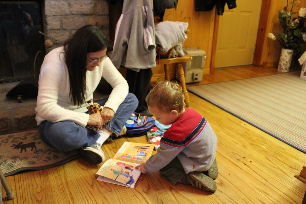 Reading with Cousin Deana