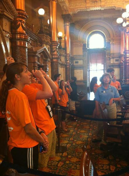 Touring the Kansas State Capitol.