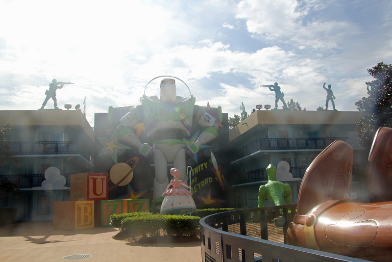 Our first hotel - Disney's All Star Movies Hotel<br /> Our section was Toy Story