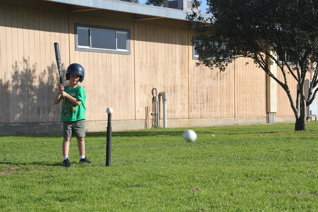 Sam's first T-Ball practice