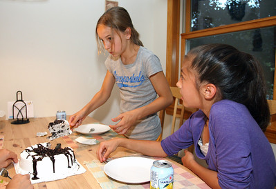 Anna's 12th birthday party with friends.