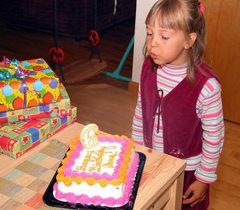 Birthday celebration postponed because of the trip to San Diego.