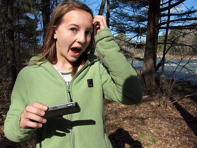 Geocaching with Anna.