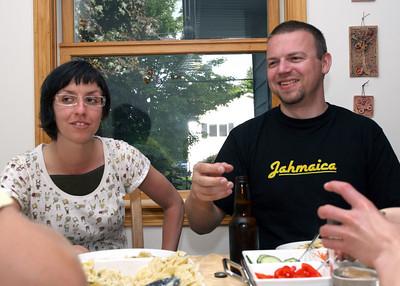 Kacenka, Beata, and Bedrich visiting in June 2009.