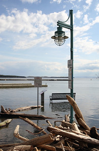 2011 Lake Champlain Flood. On the Burlington, Vermont waterfront.