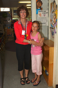 With Mrs. P on the last day at Hiawatha.