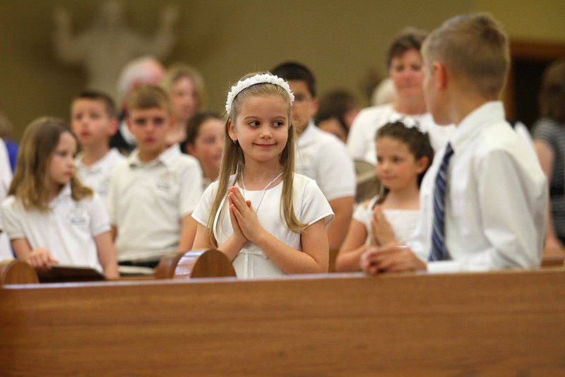 Maggie at HFE first communion mass