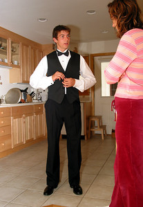 Getting ready for the junior prom.
