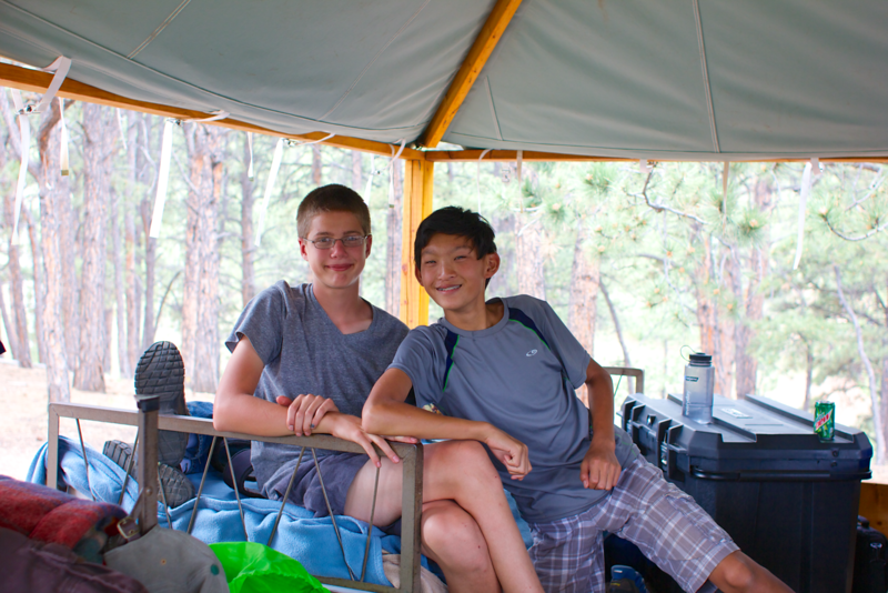 Hanging out in Paul's tent 003