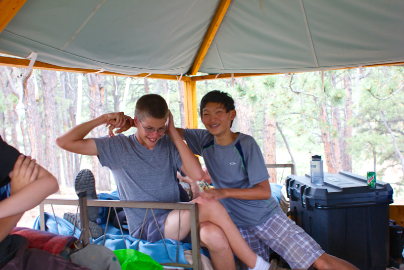 Hanging out in Paul's tent 002