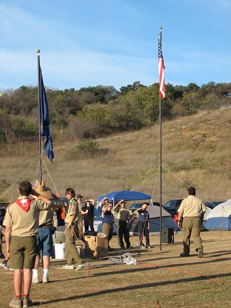 Morning flag ceremony.