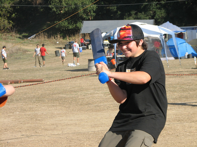 Steven enjoyed himself in the sword fighting contest.