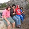 L-R: Robert, Elijah, Ian, and Owen at the ruins of the water storage tank at Echo Mountain Resort.