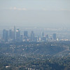 The view of downtown Los Angeles was amazing. This looks hazy, but that's because I was zoomed way in.