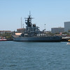 The USS Iowa, recently berthed here and made into a museum.