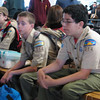 There were so many scouts taking the boat, that we had to wait quite a while before we boarded.