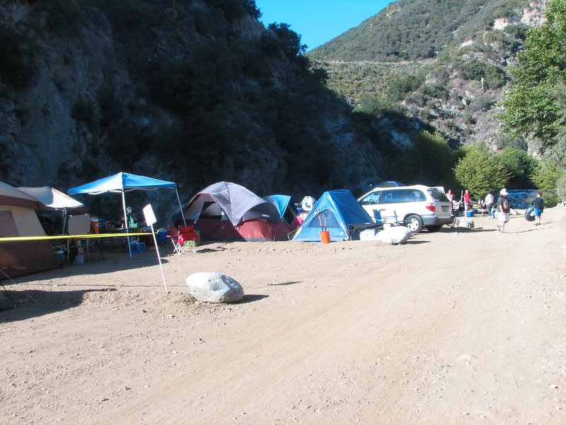 Our camp sites, after setup on Friday.