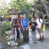 This is the Icehouse Canyon trailhead. From left: Kristopher, Simon, Alec, John, and Mark. Taking the photo is your fearless leader, Richard.