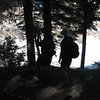 Alec and his Dad shooting pictures of the snowfields. I wanted a silhouette effect, but the trees kinda messed it up.