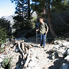 Kris checking out Columbine Spring, at about 9:00, about 2 miles into the hike. Elevation here is about 6600 feet.
