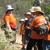 Colleen, pointing out the buckwheat to the group.