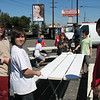 Brandon H, Steven M, William H, Ian M, and Dylan W get to work painting.