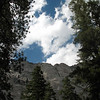 At Whitney Portal, you have steep granite cliffs on both north and south, and they are very impressive.