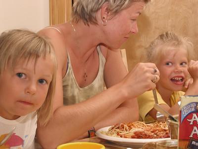 Katys and Renys visiting, summer 2004.