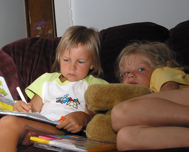 Katys and Andula, summer 2004.