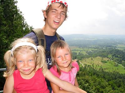 Cousins on a trip to Mt. Philo.