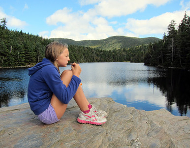 Hike to Sterling Pond, Vermont, in September 2012.