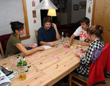 All night card game with Dan & Aly ...