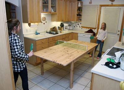 Kitchen ping pong.