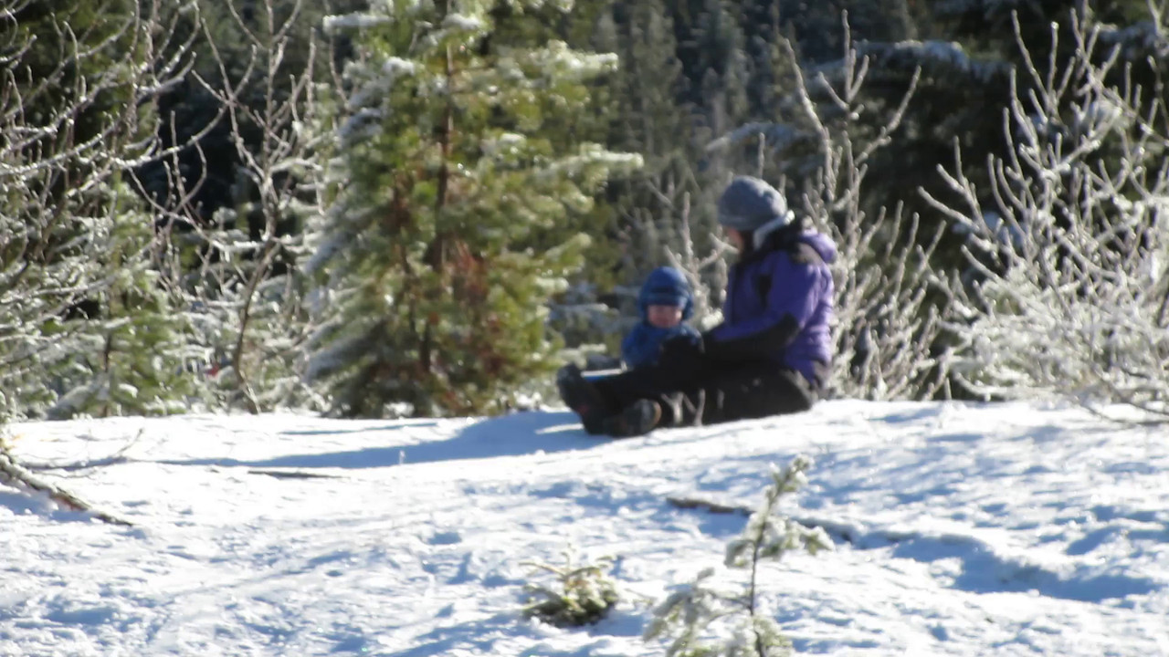 Oliver's first ever sled ride!  At Gold Park Sno-Park at Snoqualmie Pass.