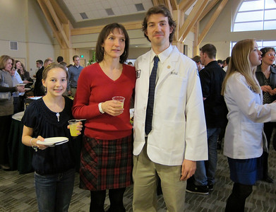 Mike's White Coat Ceremony at the UVM Med School.