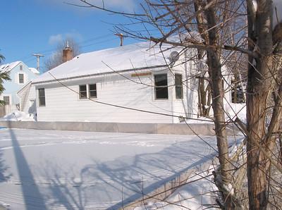 Backyard skating rink, January 2003.