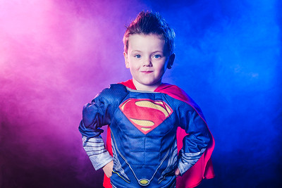 Home Studio shoot this morning: Superman Jack came for a visit