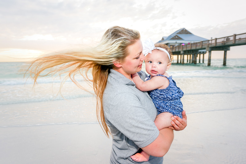 Family Portrait Session on Clearwater Beach