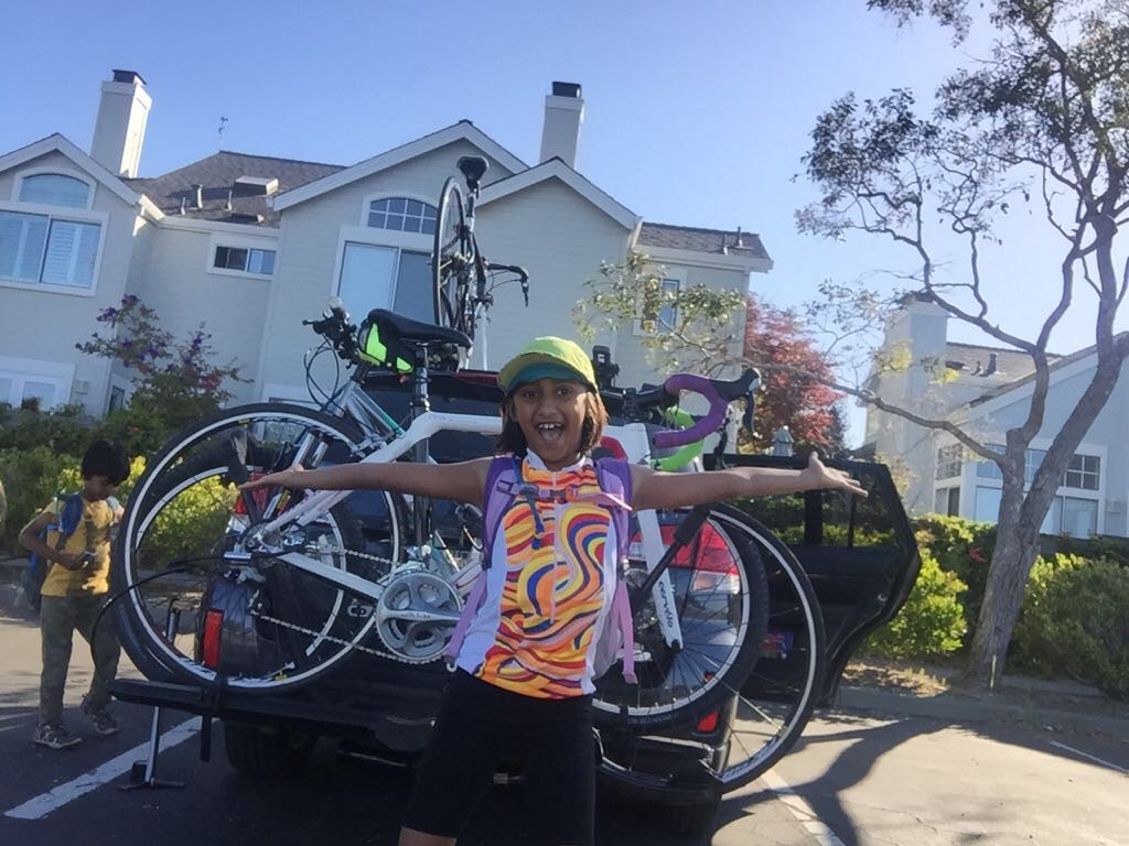 Riya excited for Kids For Cause Kick Off Training Ride
