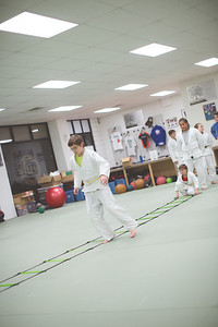 The agility ladder is very important for foot coordination and speed, 2 fundamental elements of Martial Arts training.