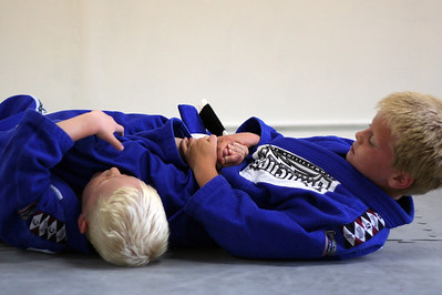 John working an armbar.