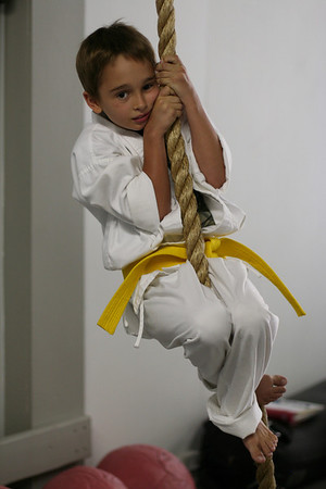 Noah climbing the Rope.