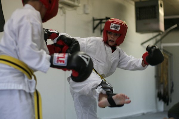 John and Jake working on Sparring for the first time.
