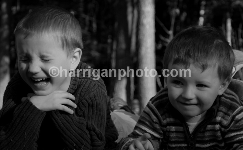 B & W Devon laughing with Spencer