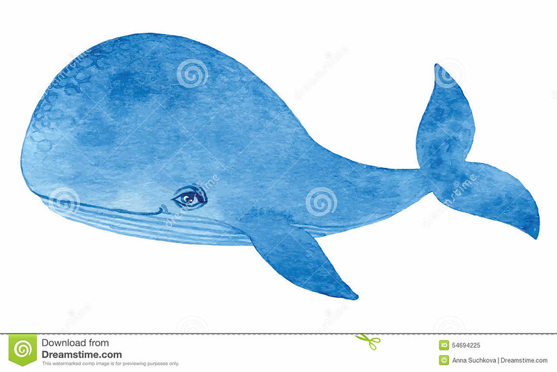 //www.dreamstime.com/royalty-free-stock-photo-blue-whale-watercolor-cartoon-hand-drawing-paint-image54694225